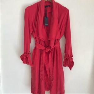 Max Jeans Red Trench Coat Size M NWT